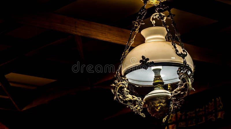 古色古香的葡萄酒灯 免版税图库摄影