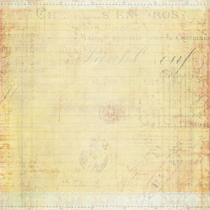 古色古香的葡萄酒脏的织地不很细纸张 免版税库存图片