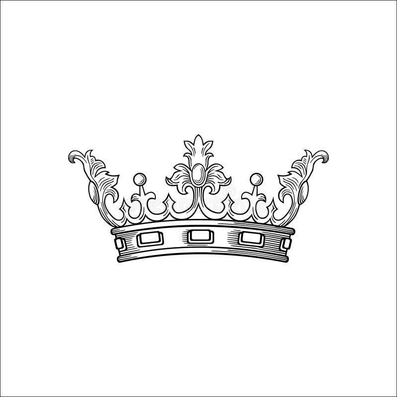 古色古香的装饰品冠传染媒介 皇族释放例证