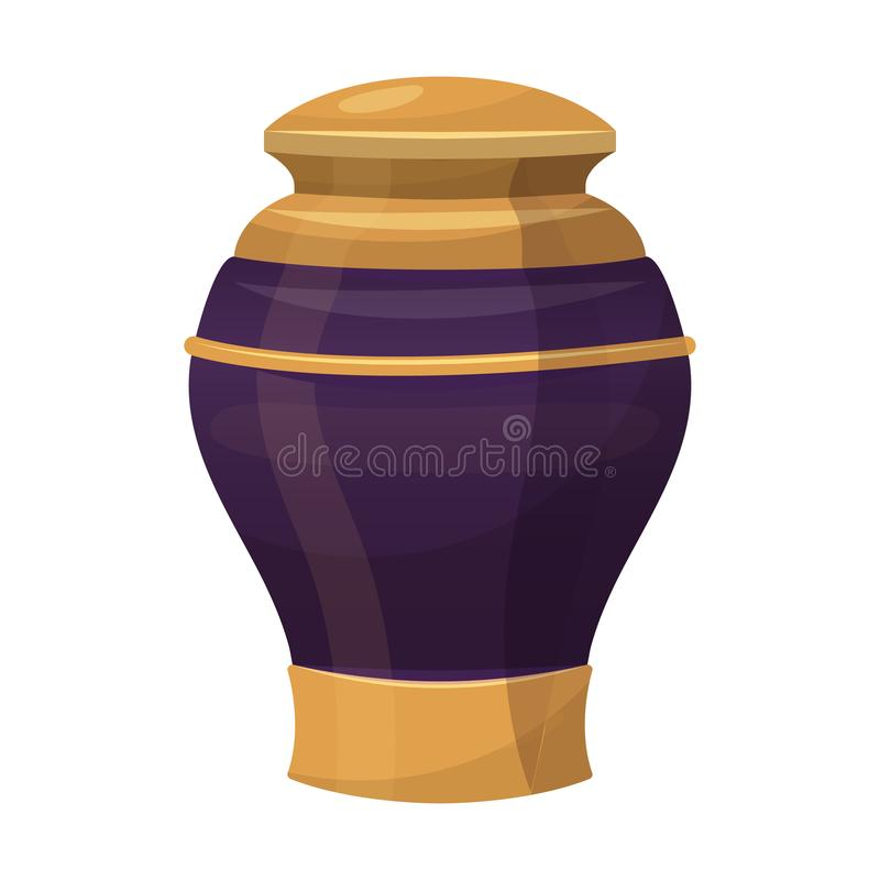 古色古香的装饰花瓶,装饰品传统内部玻璃 向量例证