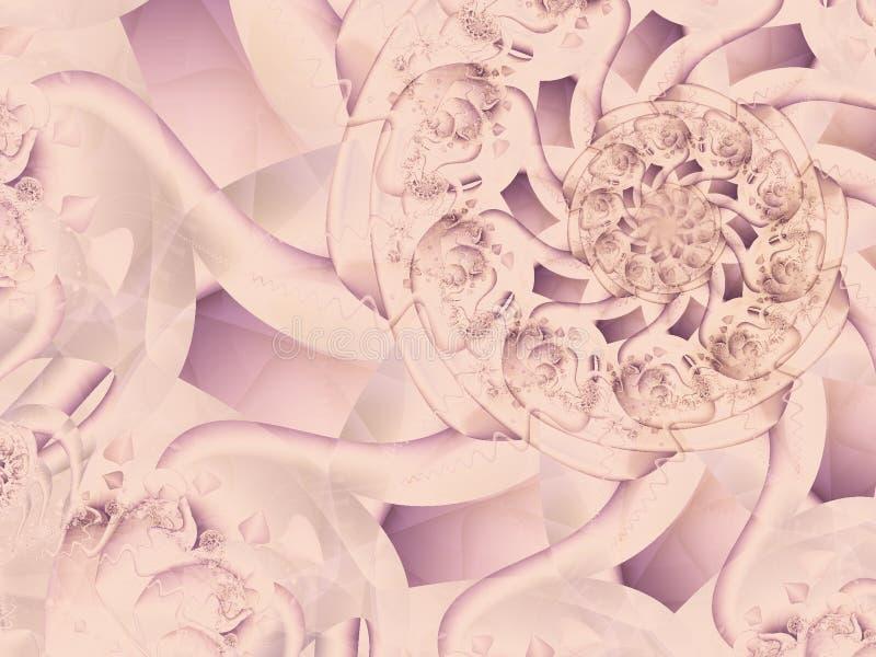 古色古香的装饰花边纸 皇族释放例证