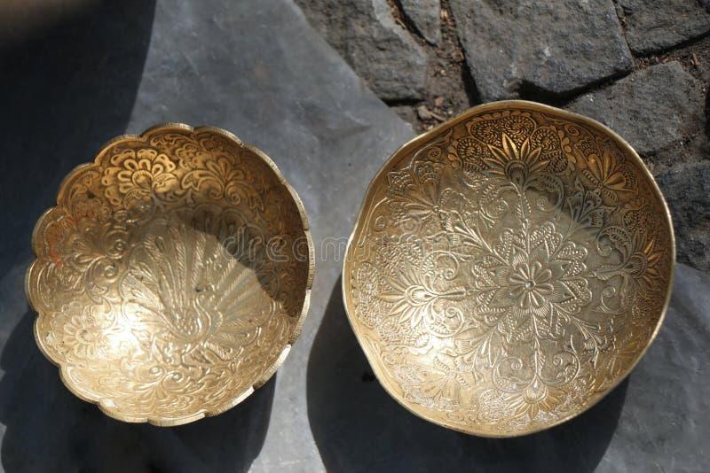 古色古香的装饰金属板材 免版税库存图片