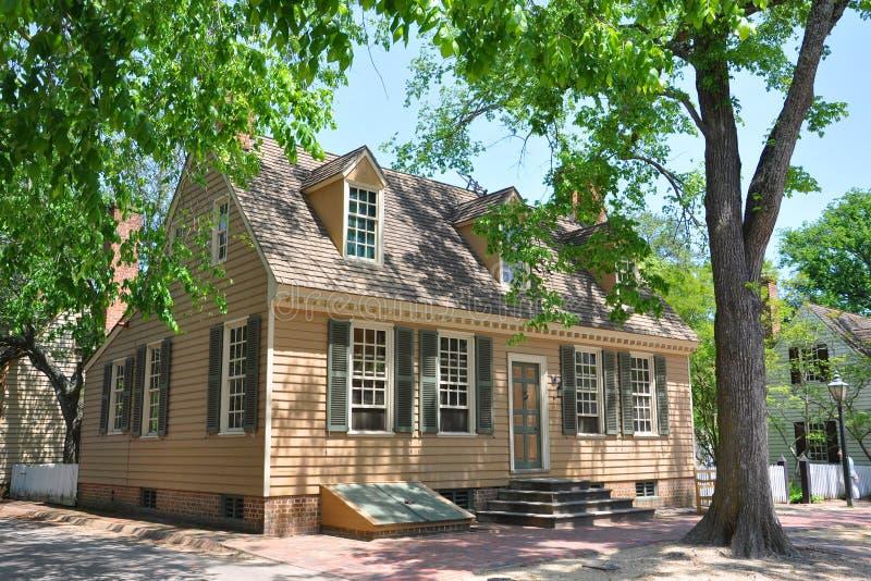 古色古香的议院在威廉斯堡, VA,美国 库存照片