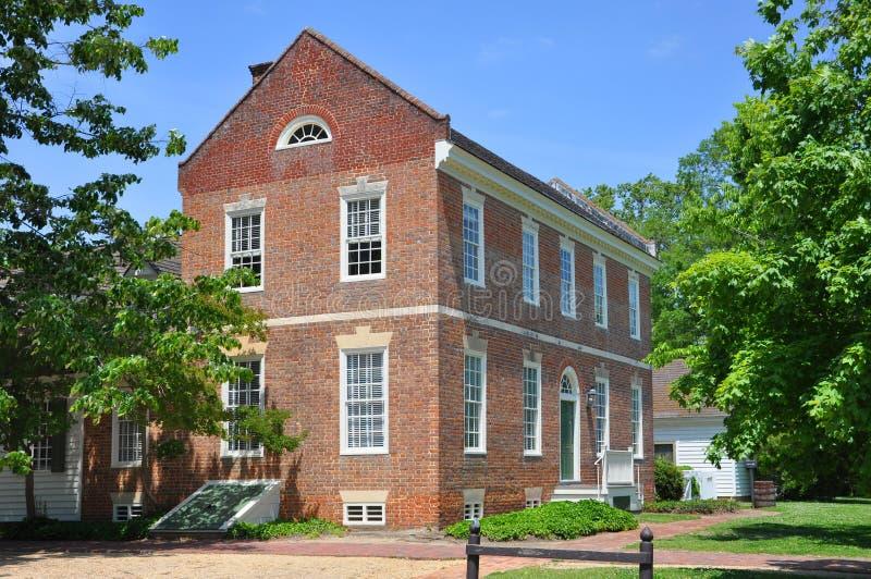古色古香的议院在威廉斯堡, VA,美国 图库摄影