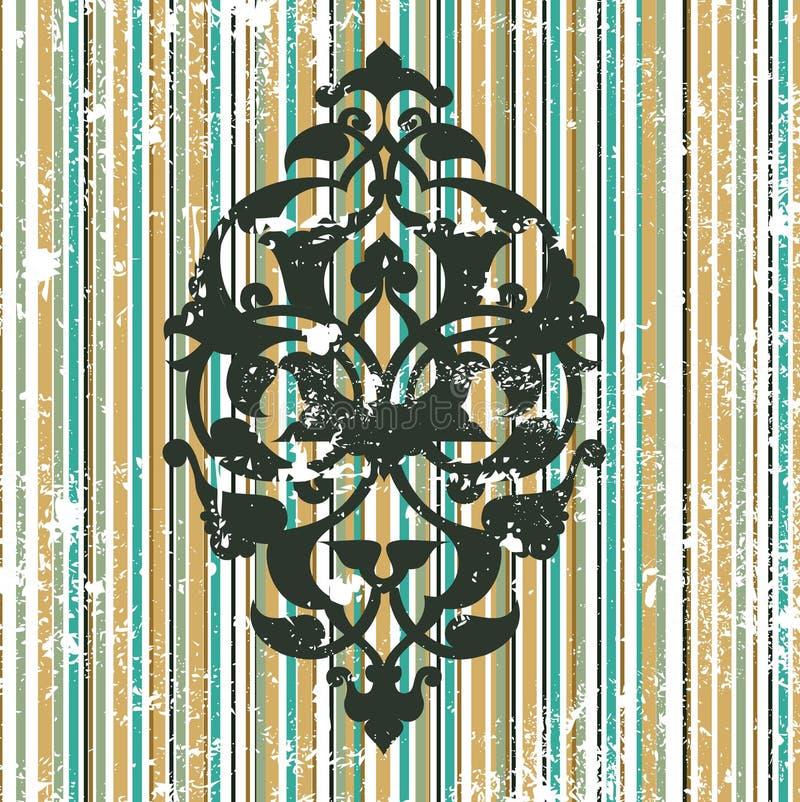 古色古香的设计脏的无背长椅光栅墙&# 皇族释放例证