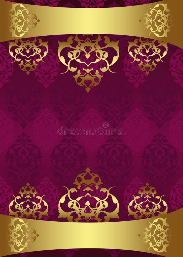 古色古香的设计金无背长椅 皇族释放例证