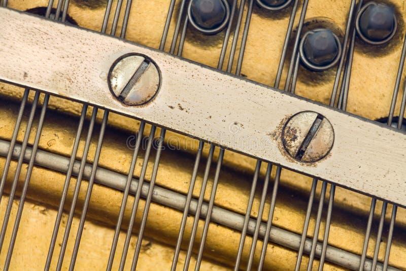古色古香的详细资料钢琴 免版税库存照片