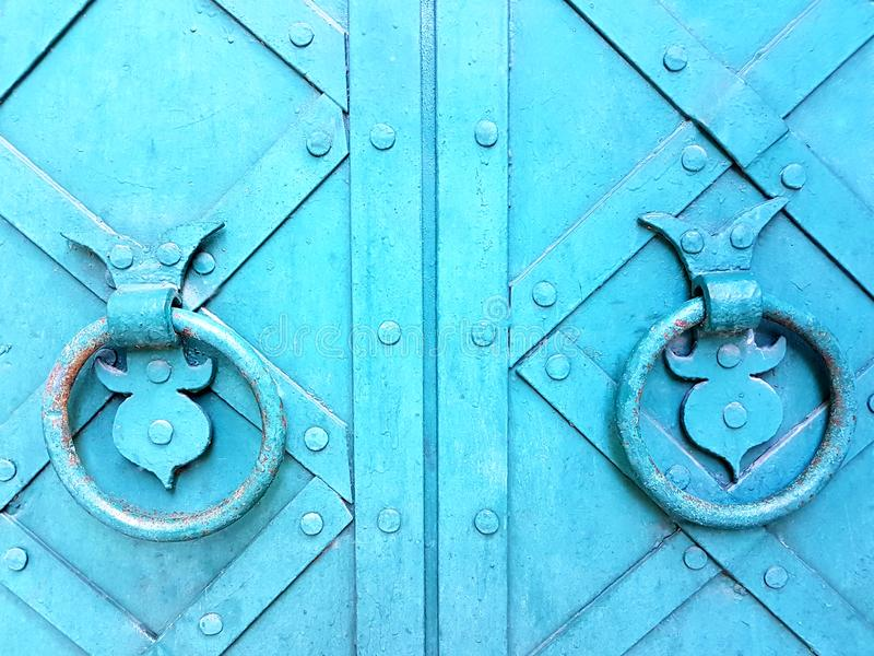古色古香的通道门环 库存照片