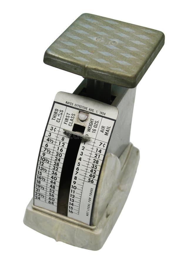 古色古香的邮费缩放比例 免版税图库摄影