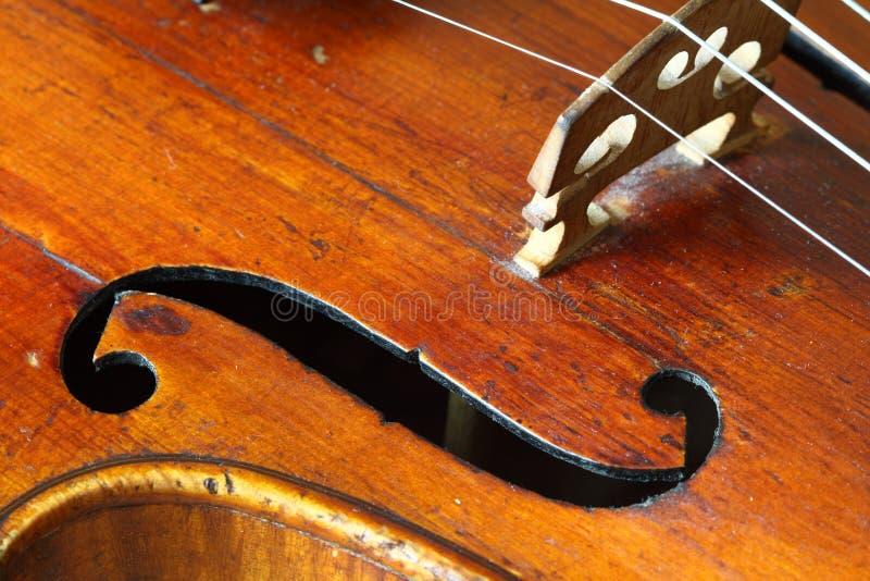 古色古香的部分小提琴 库存图片