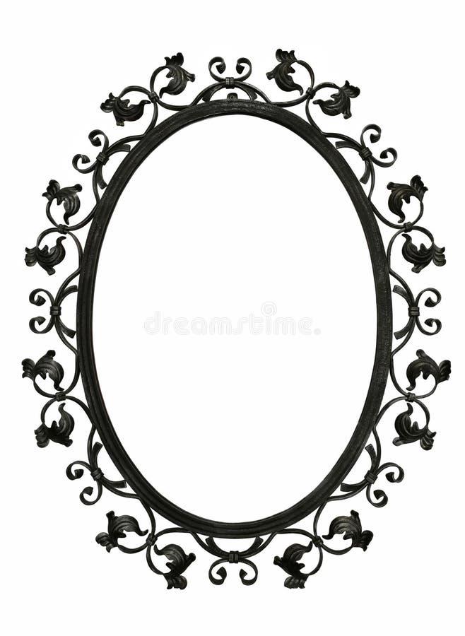 古色古香的铁镜子框架 库存图片