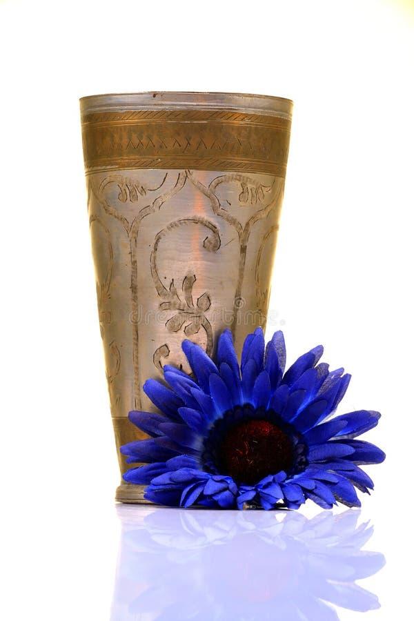 古色古香的铜玻璃 库存照片
