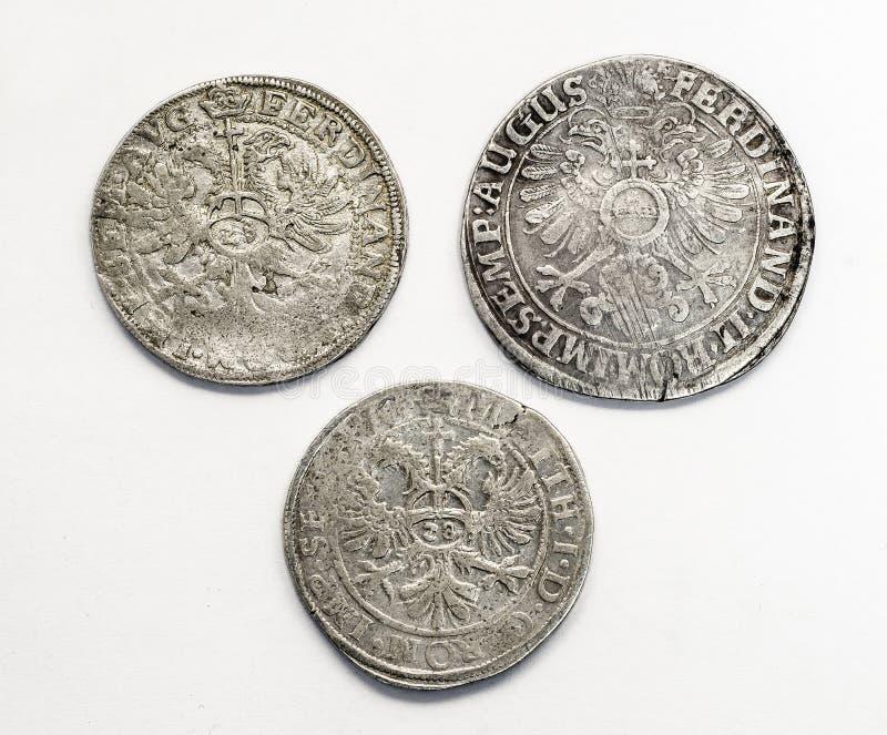 古色古香的银币泰勒元,中间年龄 免版税库存照片