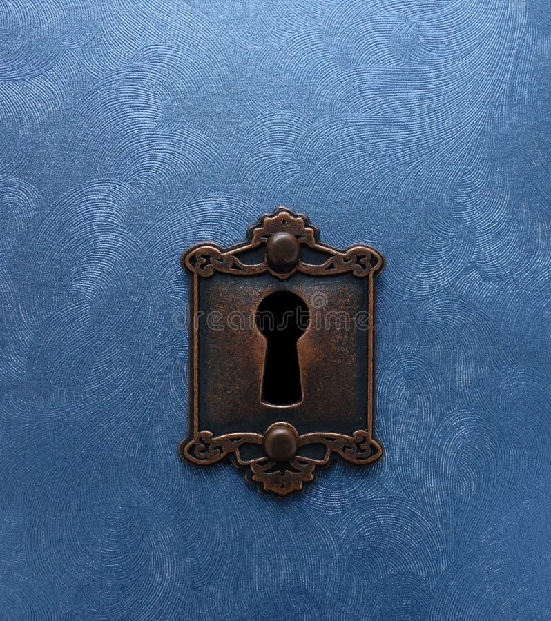 古色古香的锁和门 免版税库存照片