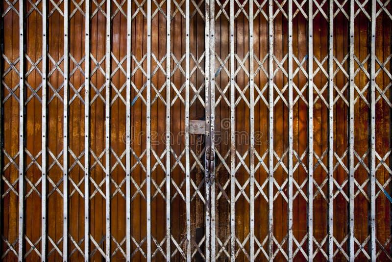 古色古香的门可折叠 免版税库存图片