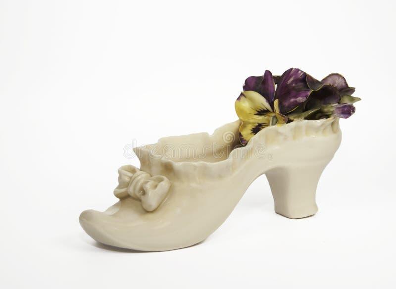古色古香的陶瓷鞋子 库存图片