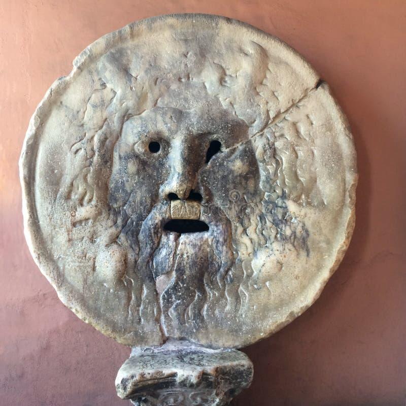古色古香的雕象在罗马在意大利 免版税库存照片