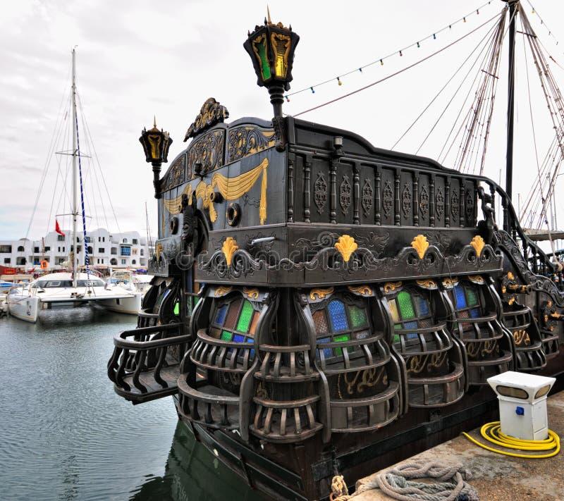 古色古香的风帆船 库存图片