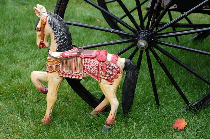 古色古香的马玩具 免版税库存图片