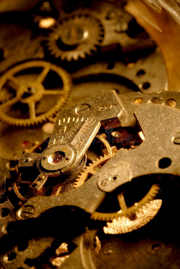 古色古香的齿轮手表 免版税库存图片