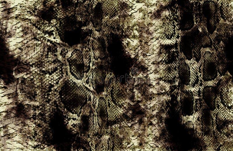 古色古香的snakeskin和黄色背景样式 库存照片