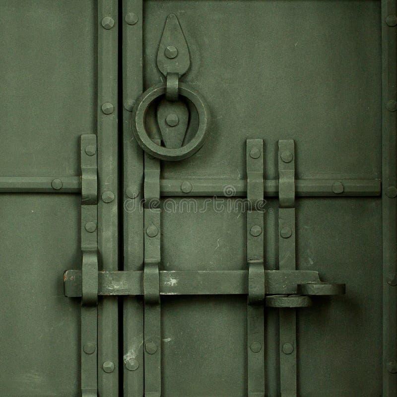 古董伪造了门 库存图片