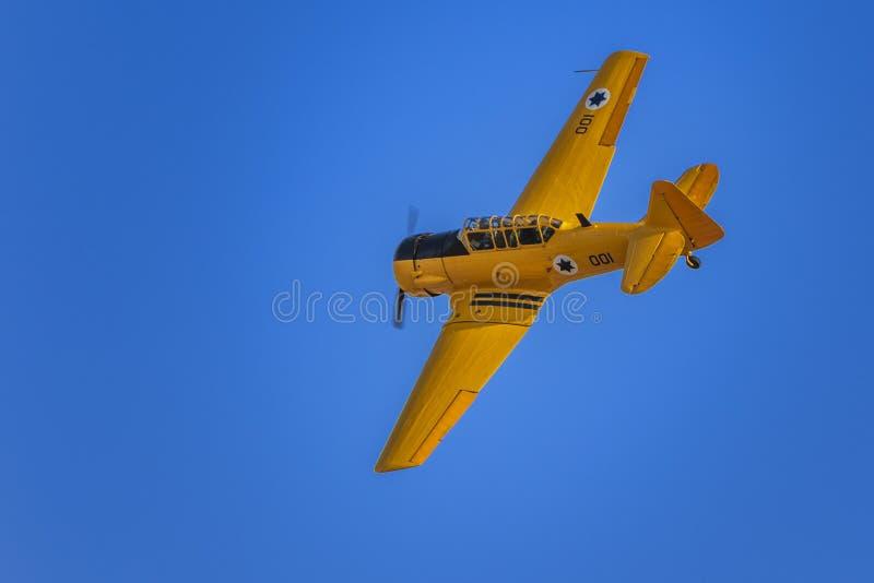 古董哈佛Mk II飞机 免版税库存照片