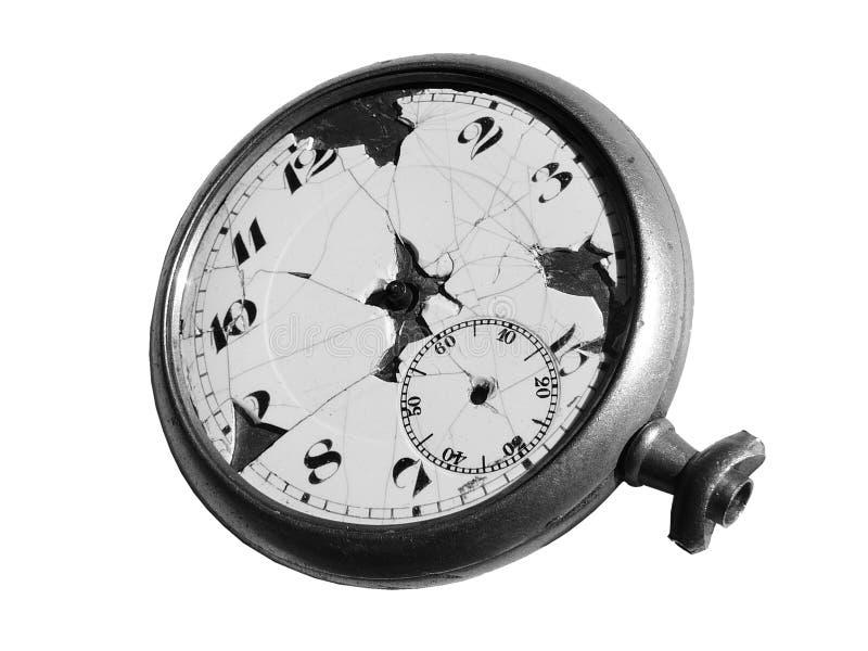 古董查出的pocketwatch 免版税库存照片