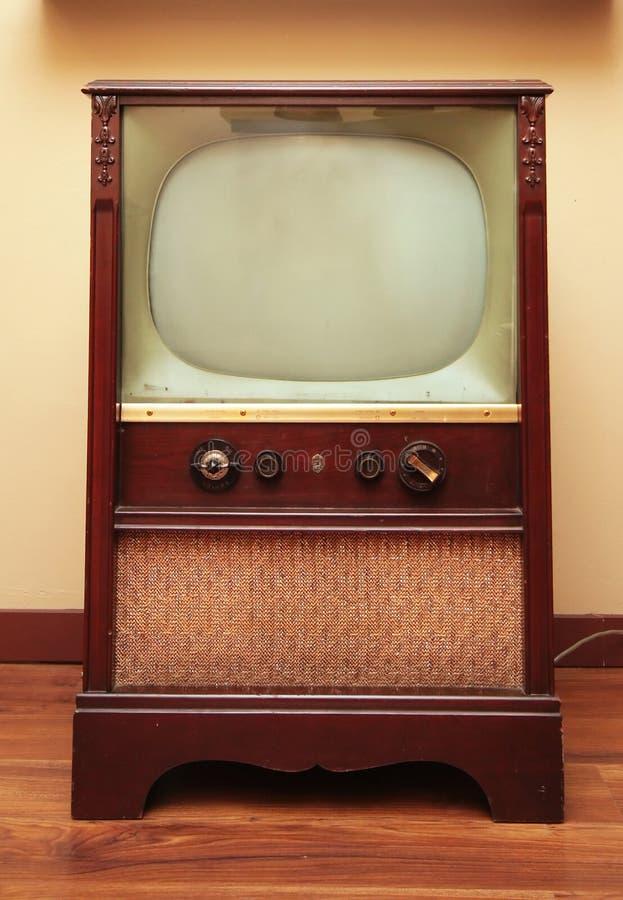 古董电视 库存图片