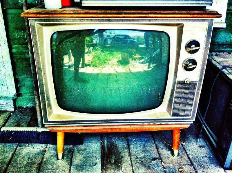 古董电视 库存照片