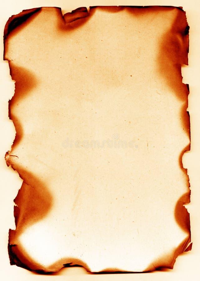 古董被烧的纸张 皇族释放例证
