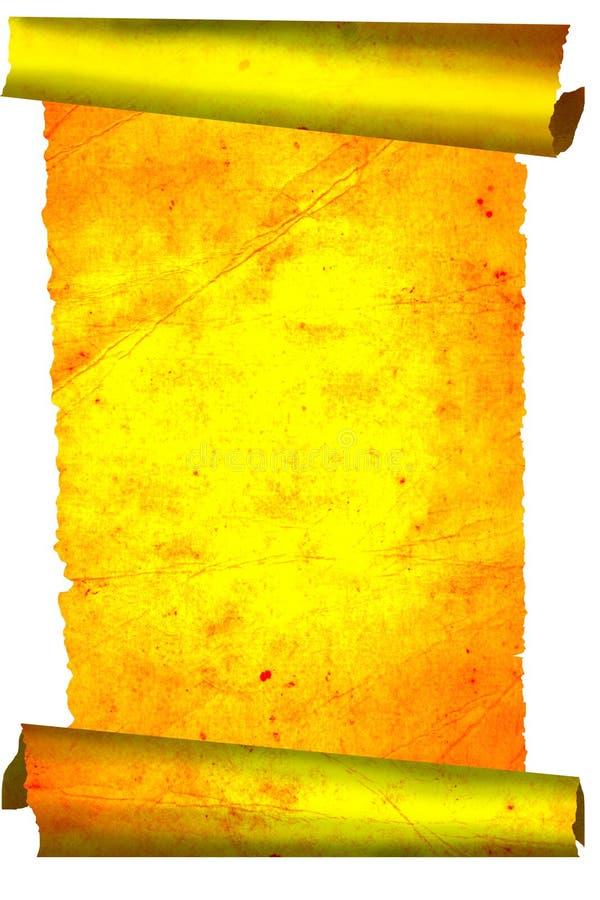 古金色纸卷 库存图片