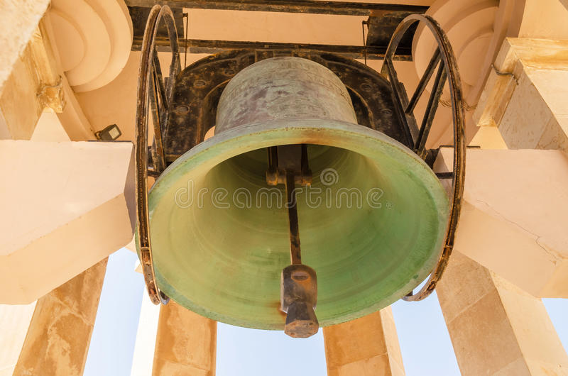 古铜色响铃圣玛丽亚在瓦莱塔 免版税库存图片