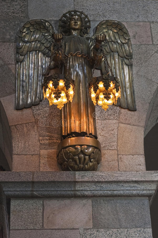 古铜色天使 免版税库存照片