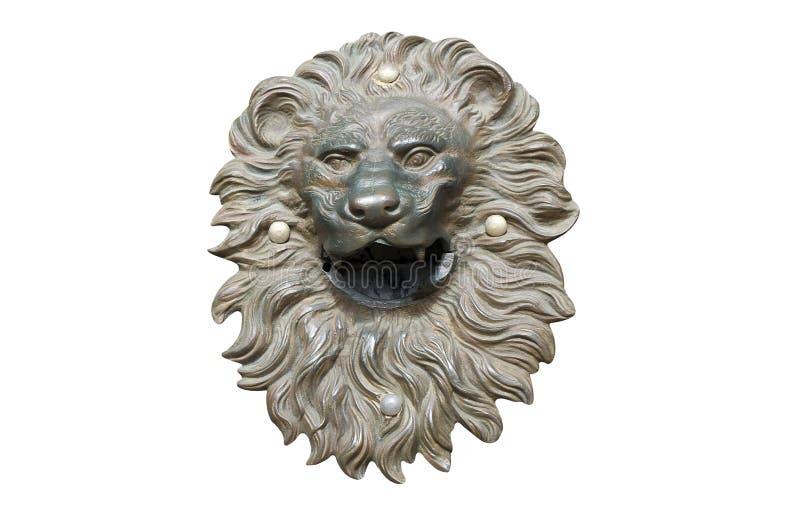 古铜色狮子头保险开关 免版税库存照片