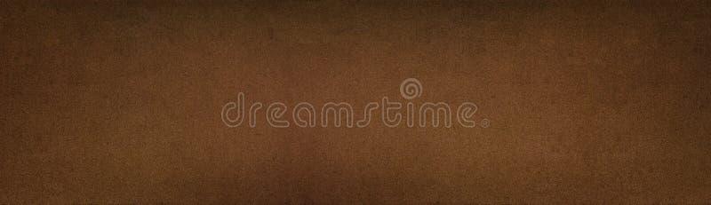 古铜色的金属纹理-宽全景葡萄酒背景 免版税图库摄影