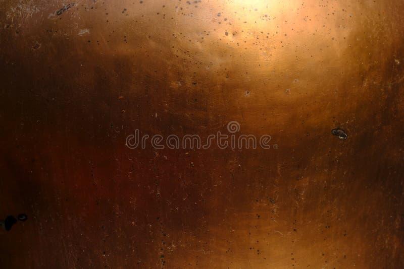 古铜色纹理,温暖的金属 免版税库存图片