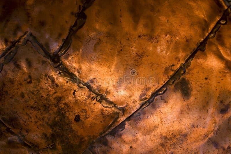 古铜色金属纹理 免版税库存照片