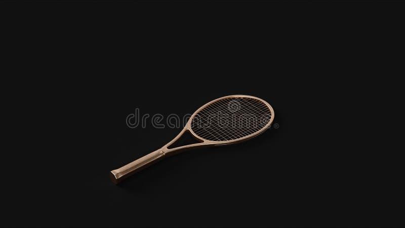 古铜色黄铜网球拍 库存图片