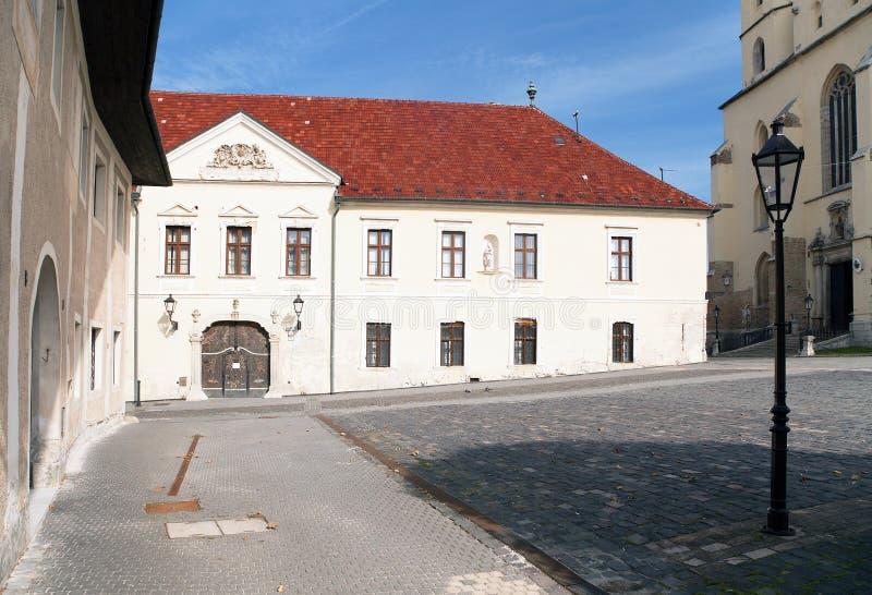古镇Trnava,美丽的城市在斯洛伐克 图库摄影