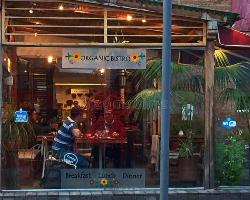 古雅有机小餐馆,基多 免版税库存照片