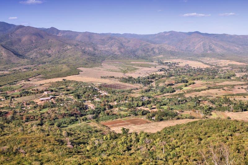 古巴农村风景 免版税库存图片