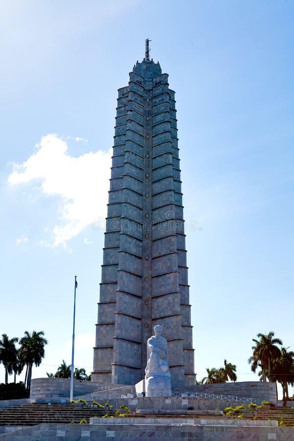 古巴哈瓦那jose marti纪念碑 库存图片