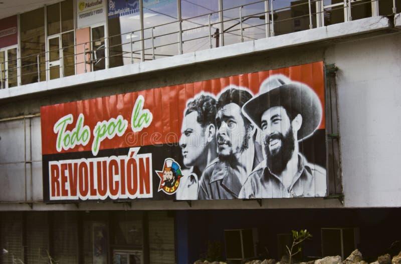 古巴的政治宣传 图库摄影