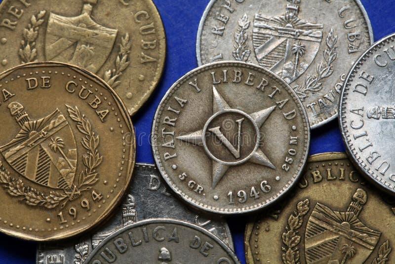 古巴的硬币 库存照片