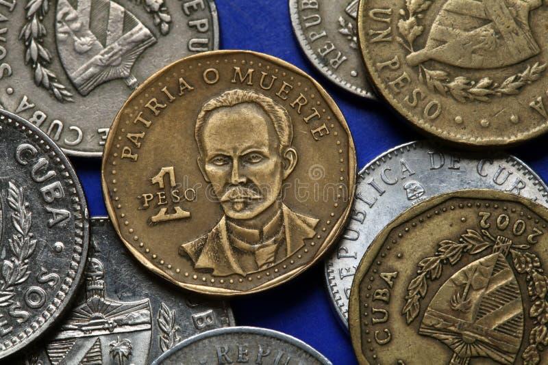 古巴的硬币 jose marti 图库摄影
