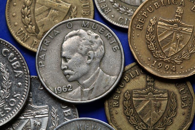 古巴的硬币 jose marti 免版税库存图片