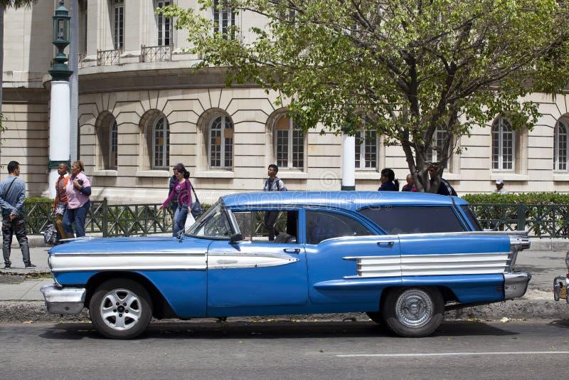 古巴老汽车 免版税图库摄影