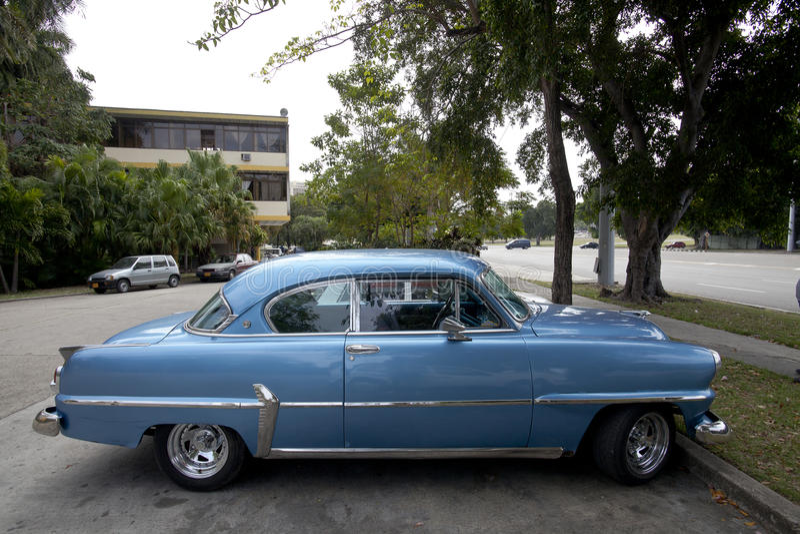 古巴老汽车 免版税库存照片