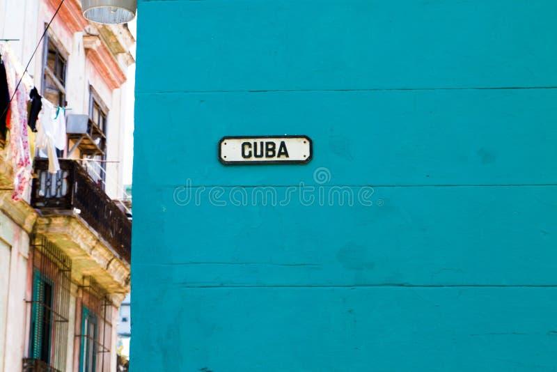 古巴街道在哈瓦那,古巴 图库摄影